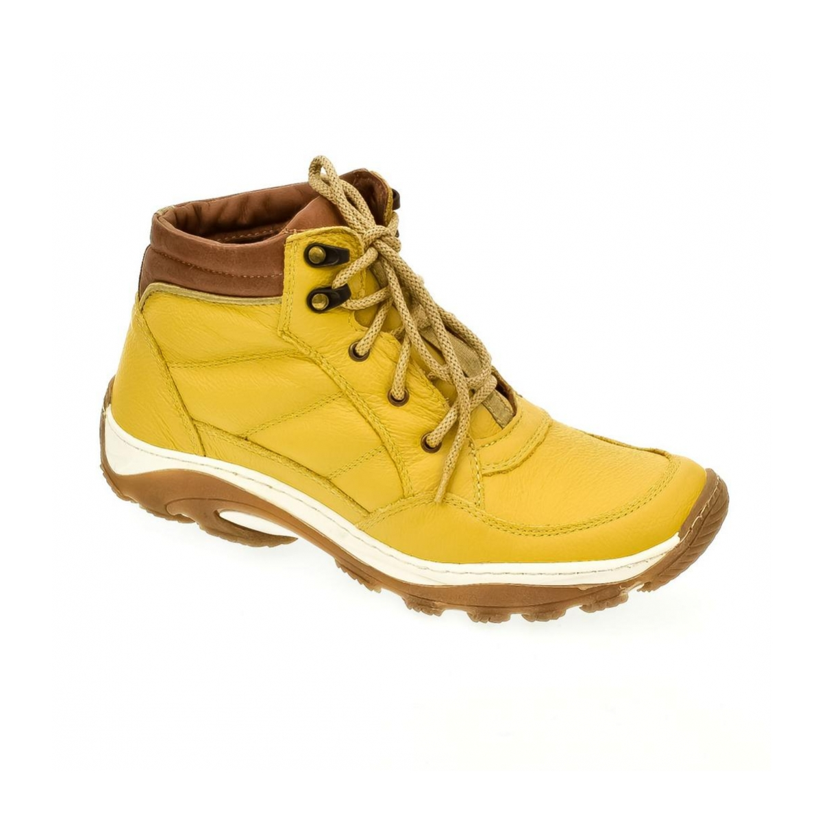 bb1b0a46340d Pánske žlté kožené topánky CANO - 4