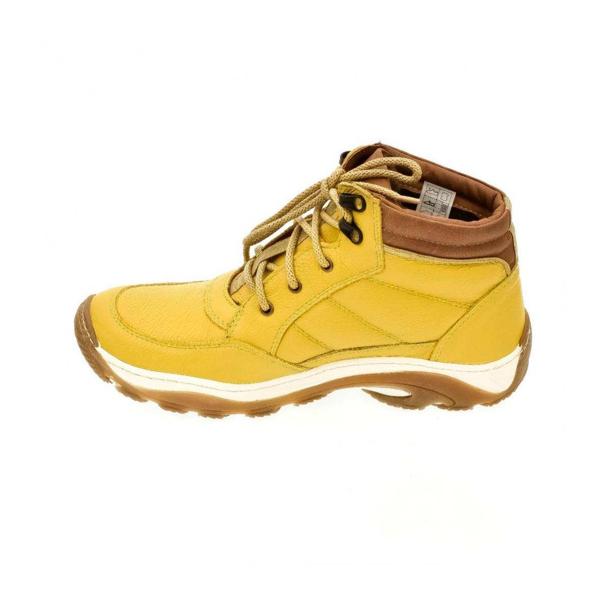 1fe0dee0e3a2 Pánske žlté kožené topánky CANO - 5