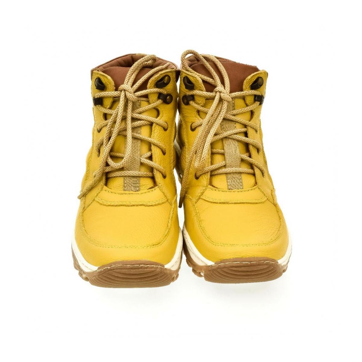 b7519bdaa67b Pánske žlté kožené topánky CANO - 2
