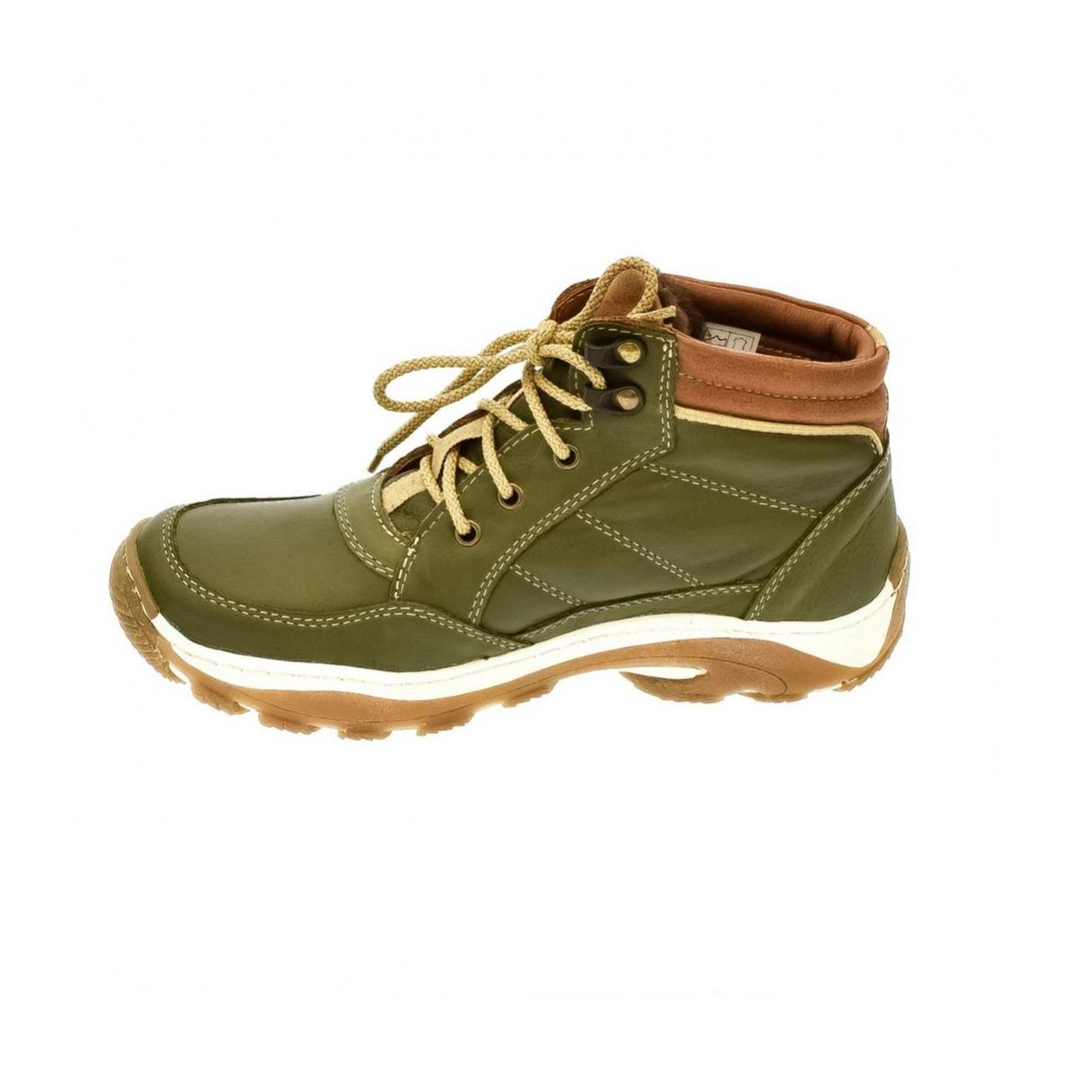 Dámske zelené kožené topánky CANA - 5 b14e49a5f1d