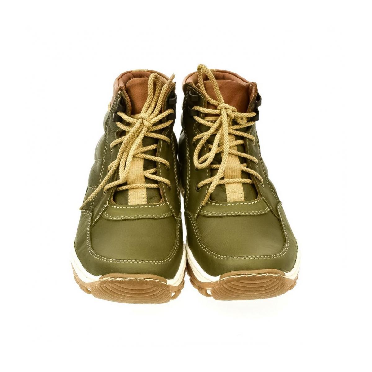 Dámske zelené kožené topánky CANA - 2 66c5733feec