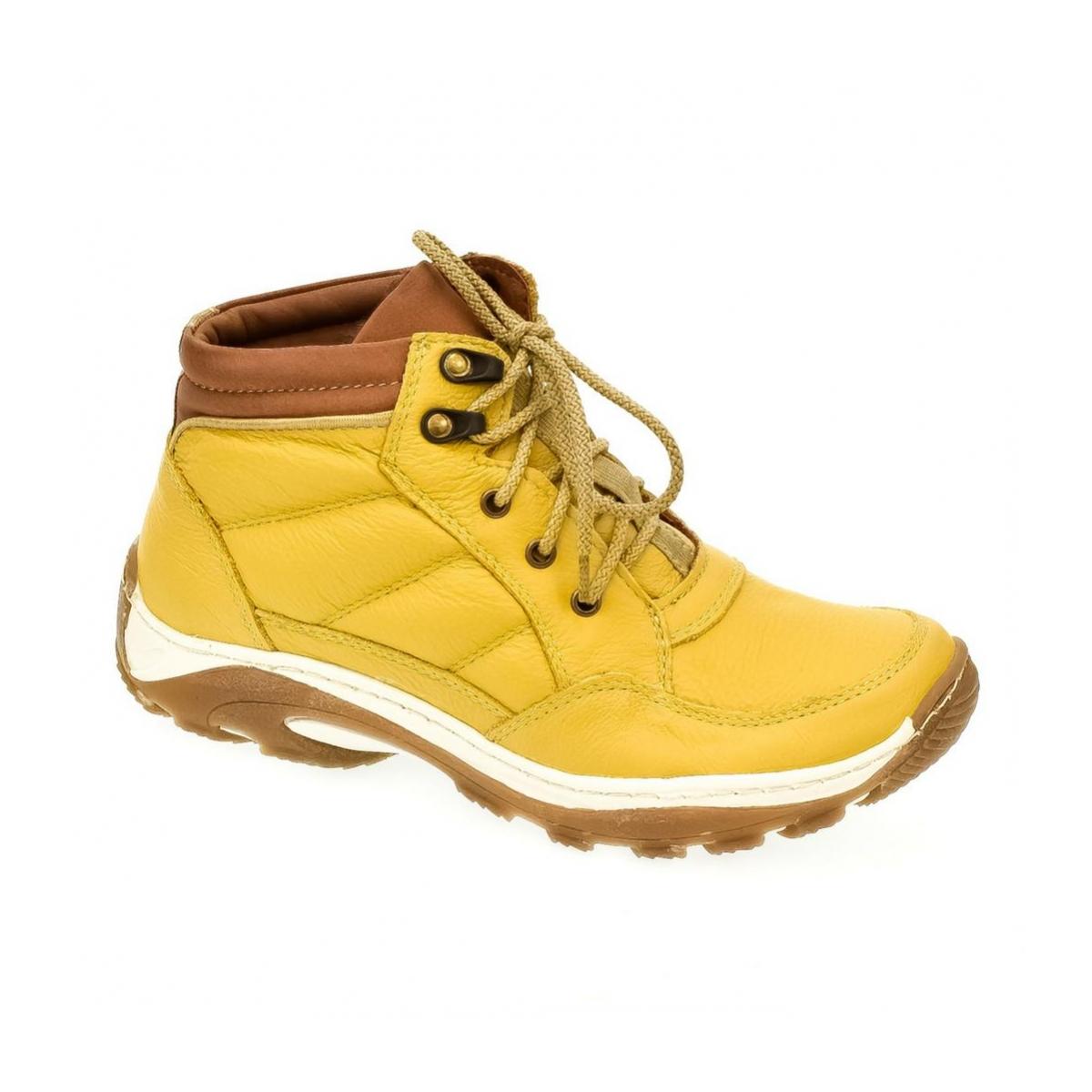 147f2217b5 Dámske žlté kožené topánky CANA - 4
