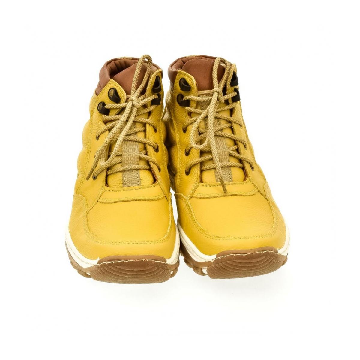 5775079eb746 Dámske žlté kožené topánky CANA - 2