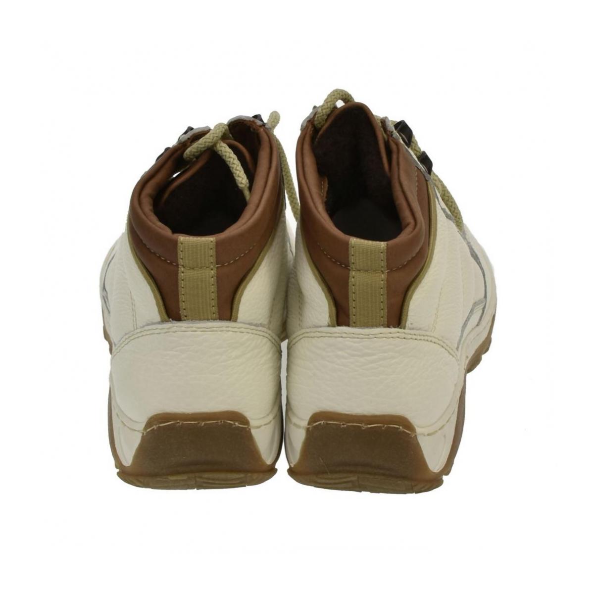 Dámske biele kožené topánky CANA - 3 346d8bae47f
