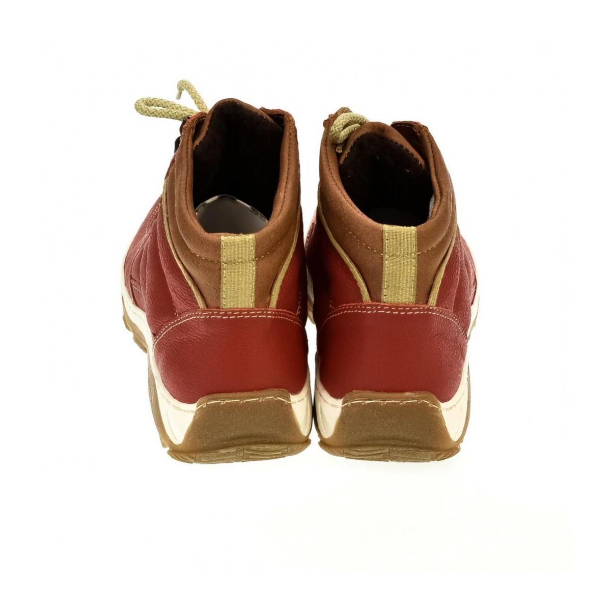 fa3bd8c50cfd Dámske červené kožené topánky CANA - 3