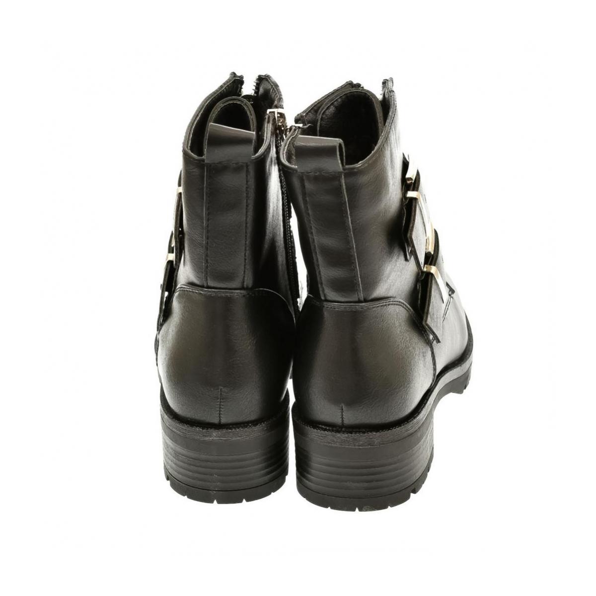 Dámske čierne členkové čižmy Jasmin - 4 a12d75f9a2c