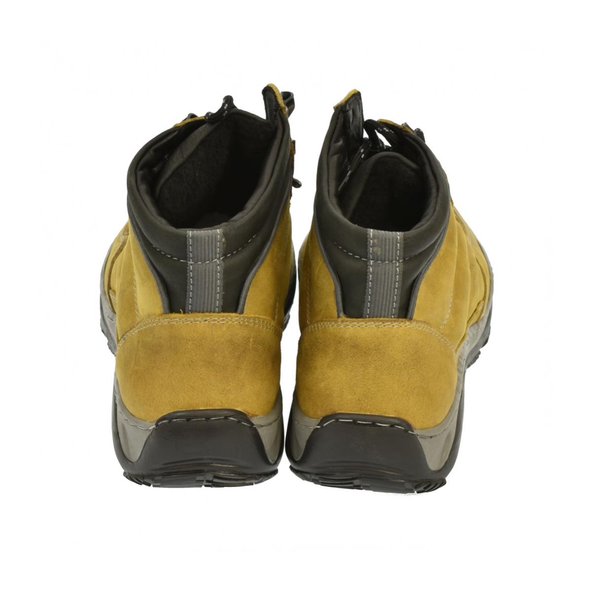 d2df51e0e877 Dámske horčicové kožené topánky CANA - 3