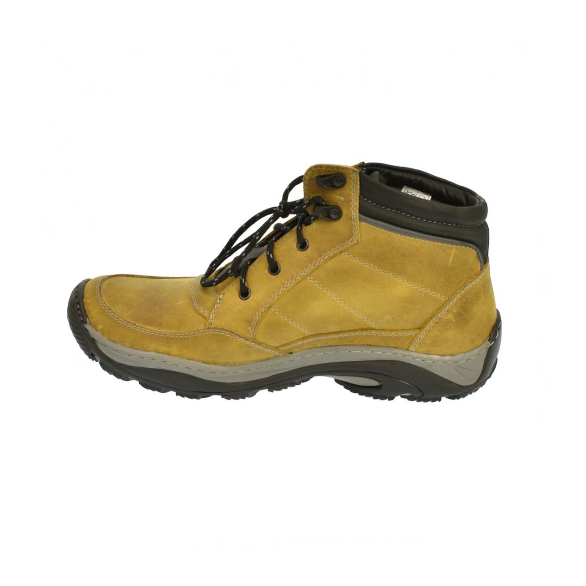 c34e7cfd23e2 Dámske horčicové kožené topánky CANA - 5