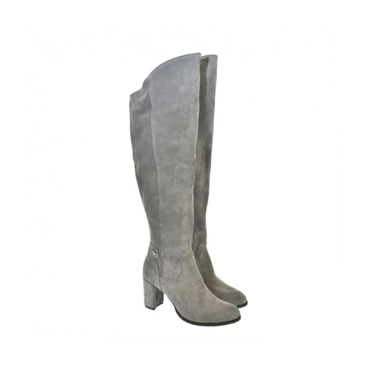 1566b5d18343 Dámske sivé semišové čižmy ARES - 2