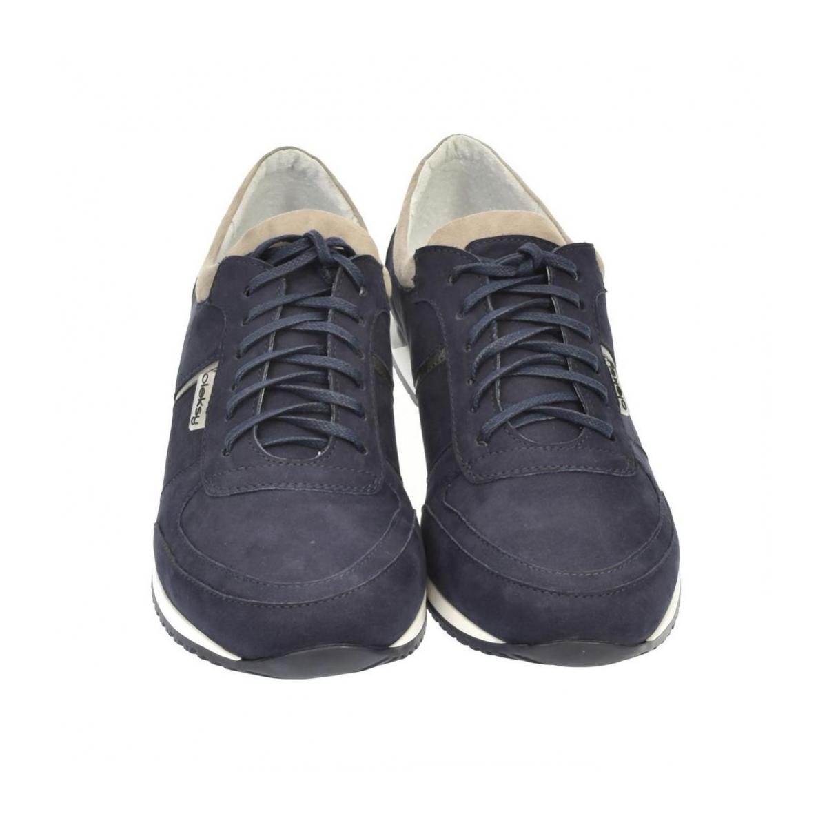 8e36e35fb6 Pánske kožené modré tenisky BEN - 3
