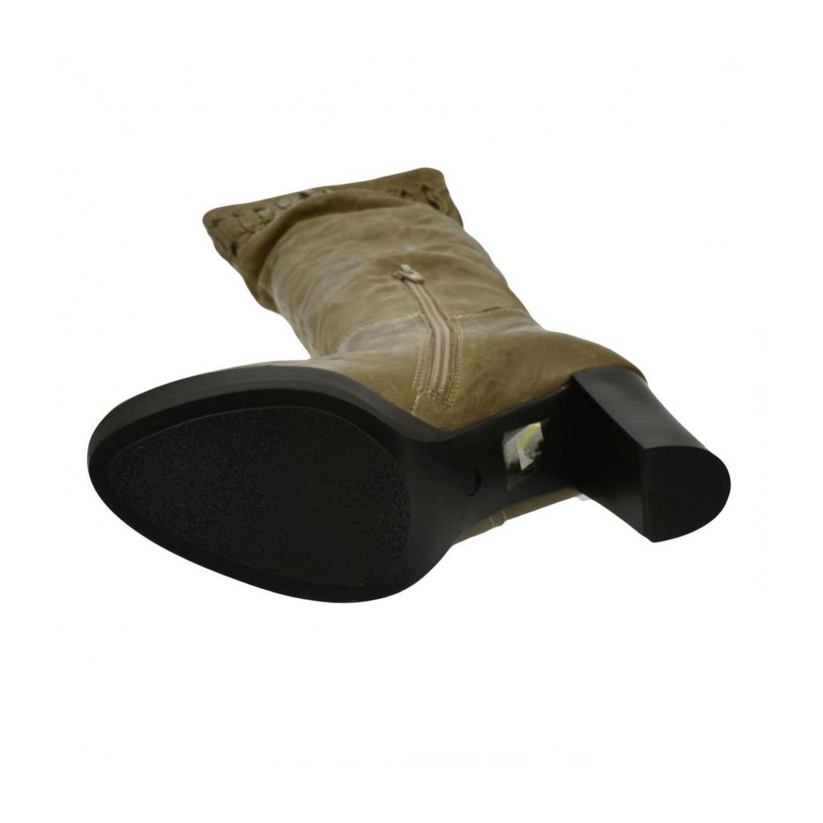 3dcac96c8e27b Dámske hnedé kožené čižmy ARISA - 6