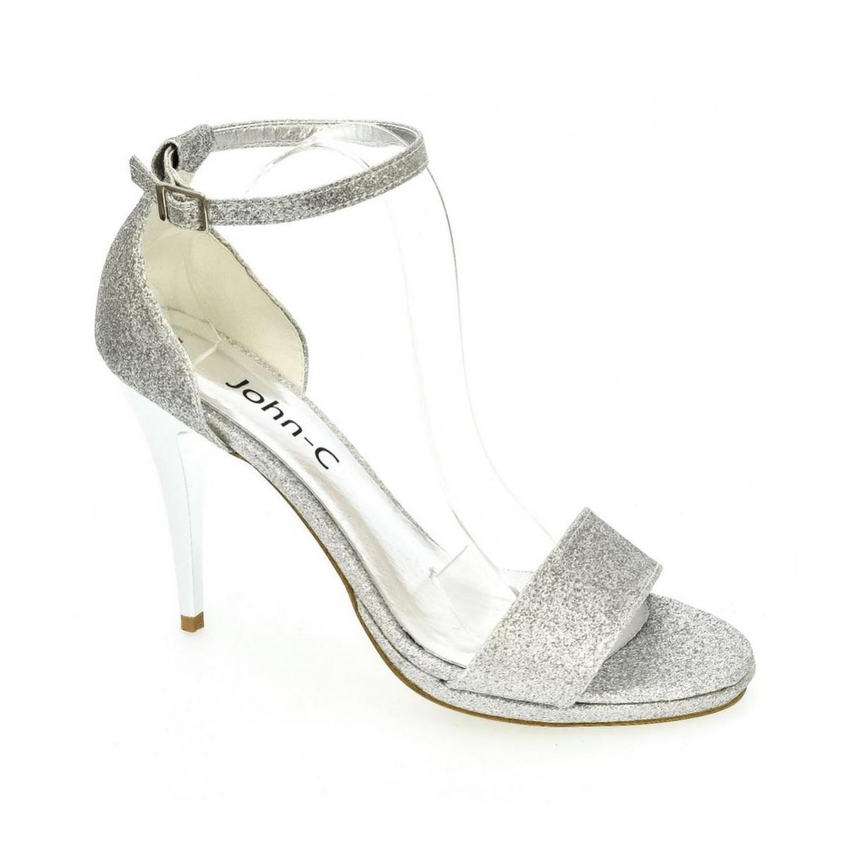 8929c6973d320 Dámske strieborné sandále KAJA - 5