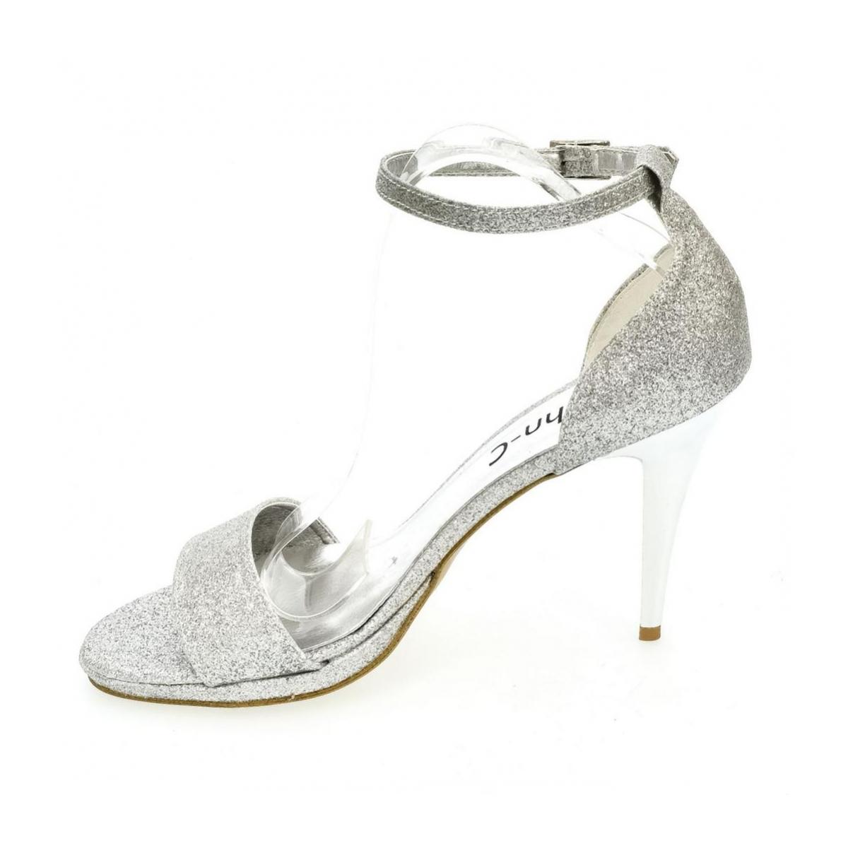 44b14836a62e1 Dámske strieborné sandále KAJA - 6