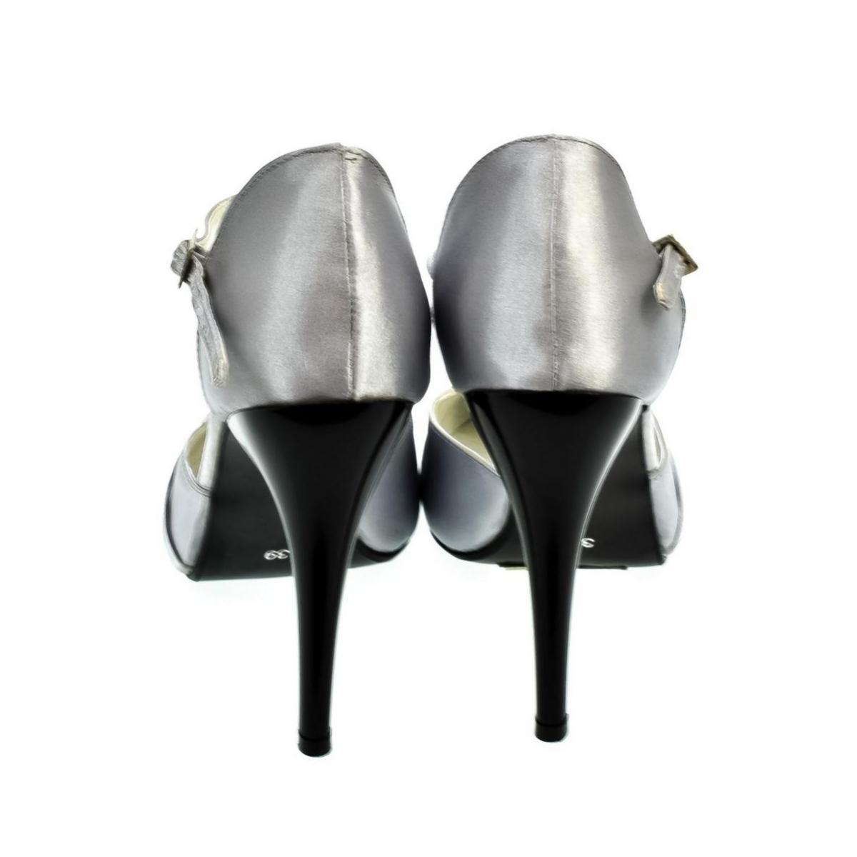 175688472977 Dámske strieborné sandále PEBLINII P70 - 3