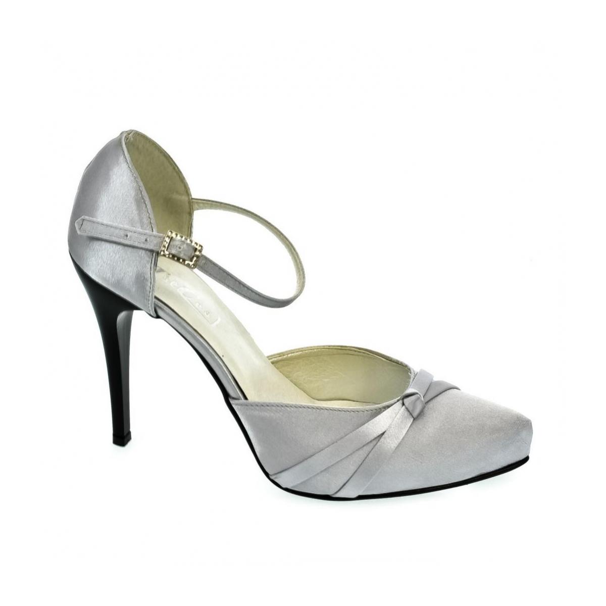 0d3e49d08fc8 Dámske strieborné sandále PEBLINII P70 - 4