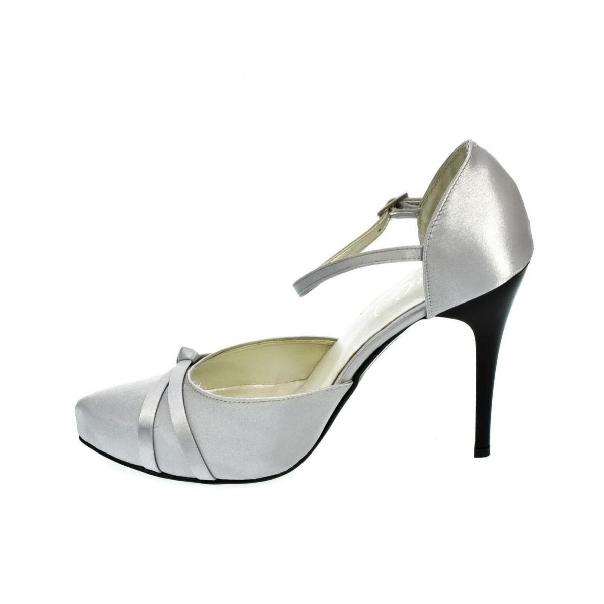 b6ebf6b5dfc5 Dámske strieborné sandále PEBLINII P70 - 5
