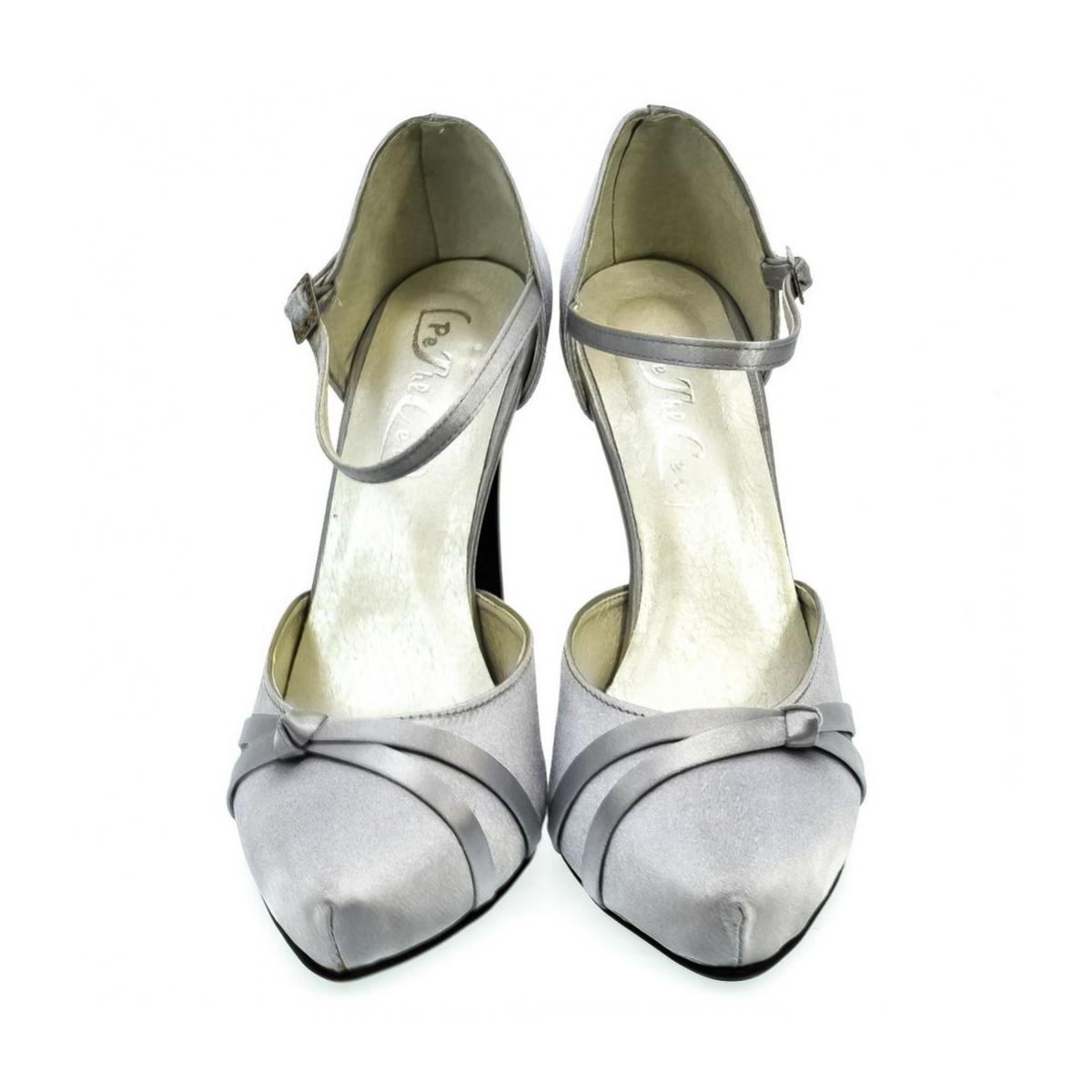 7573f55b0ab2 Dámske strieborné sandále PEBLINII P70 - 2