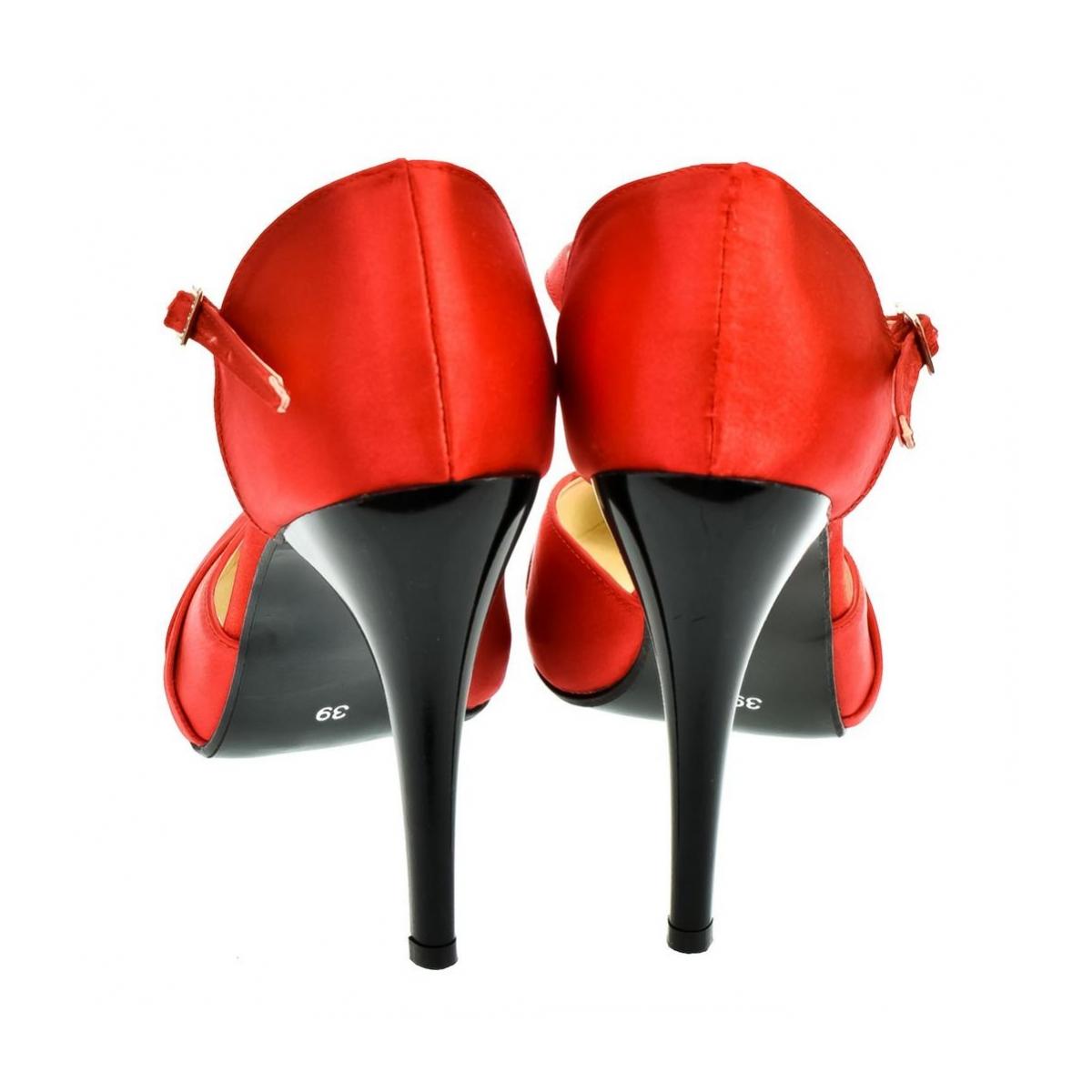 fd2b4dd12d51 Dámske červené sandále PEBLINII P70 - 3