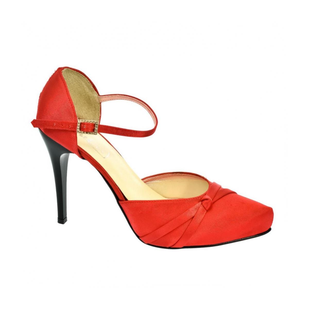 e0970bd6cada Dámske červené sandále PEBLINII P70 - 4