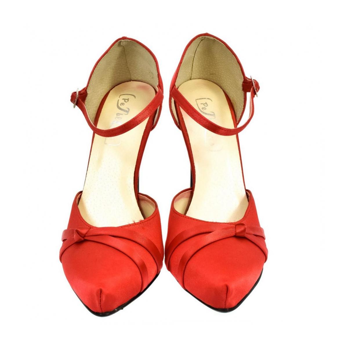 cea442ceb646 Dámske červené sandále PEBLINII P70 - 2