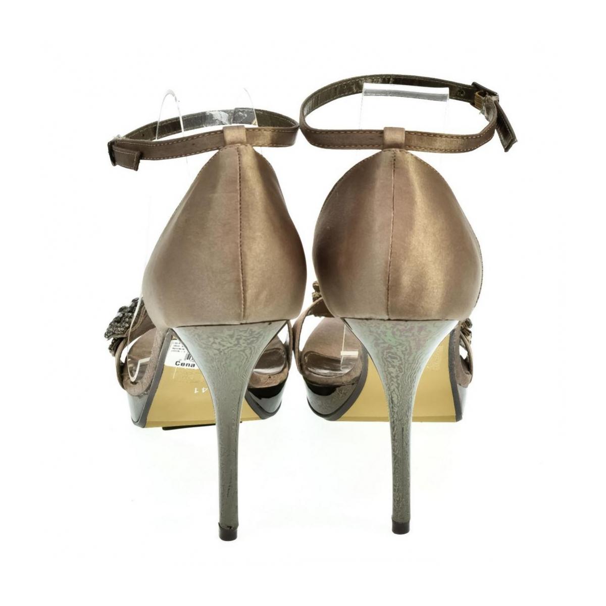 bab6814769d1 Dámske hnedé sandále INTERA - 3