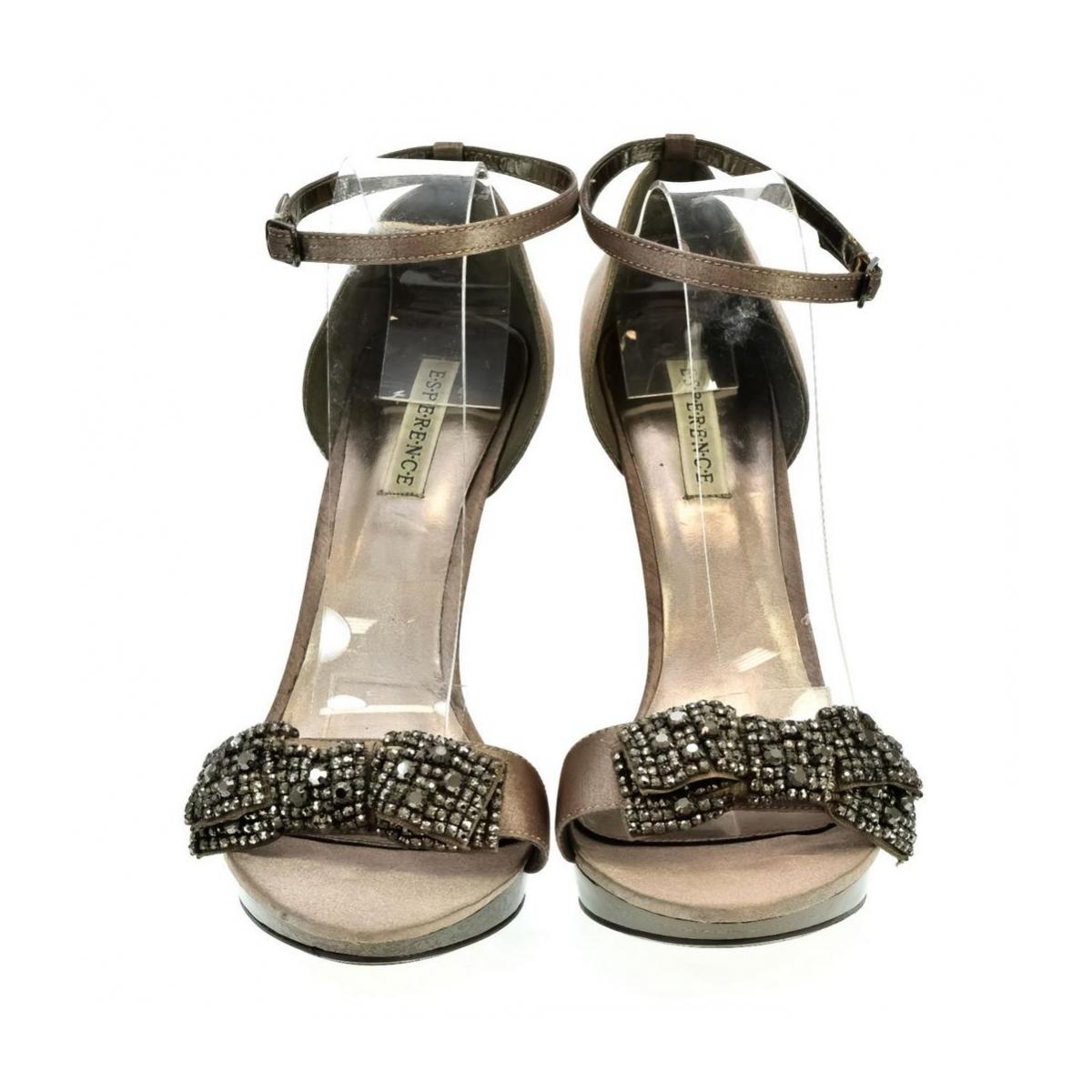 de1c60c46492 Dámske hnedé sandále INTERA - 2
