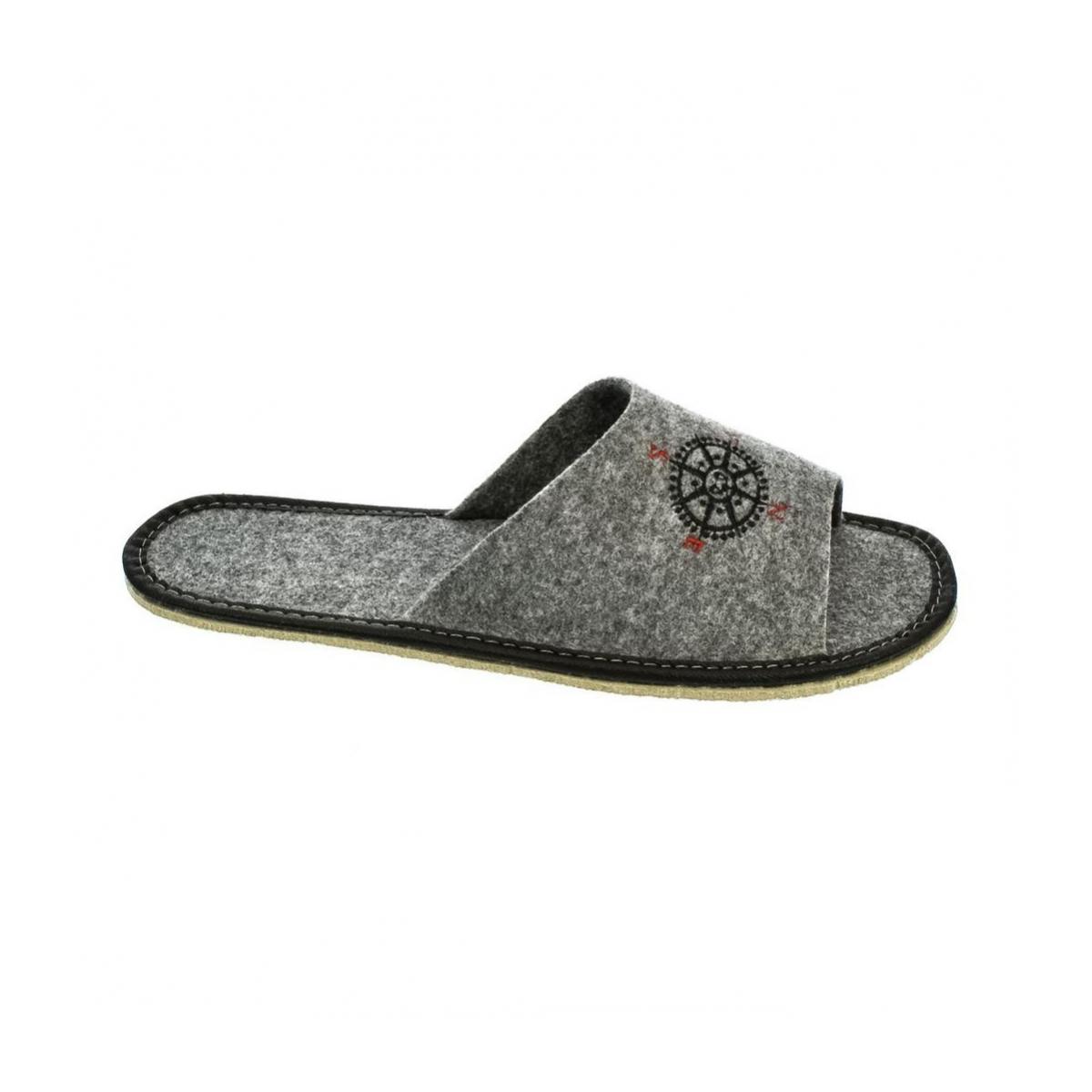 36ee8eb2dbf3 Pánske sivé papuče PIUS - 5