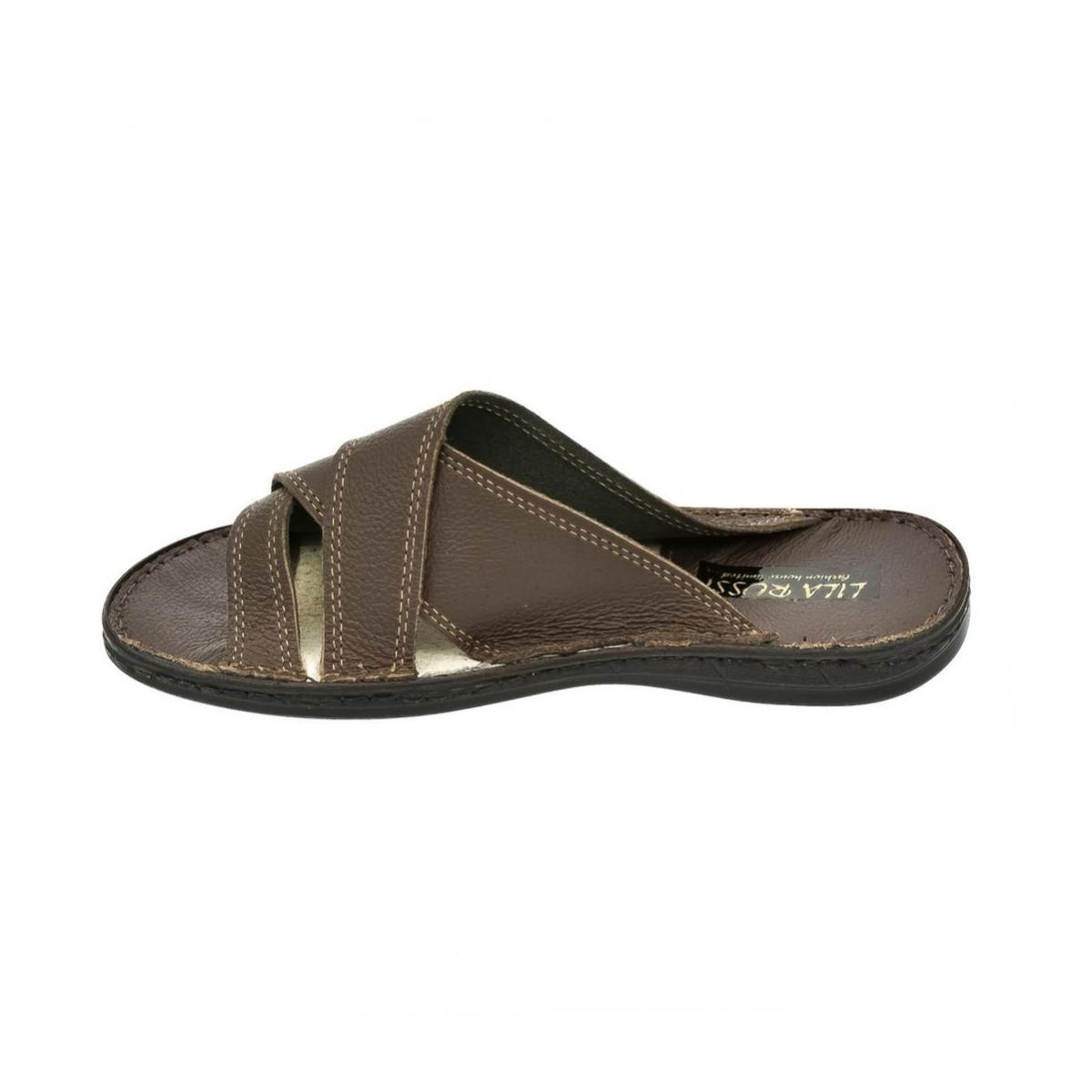 effb30f33a4bd Pánske hnedé papuče ARON | Johnc.sk