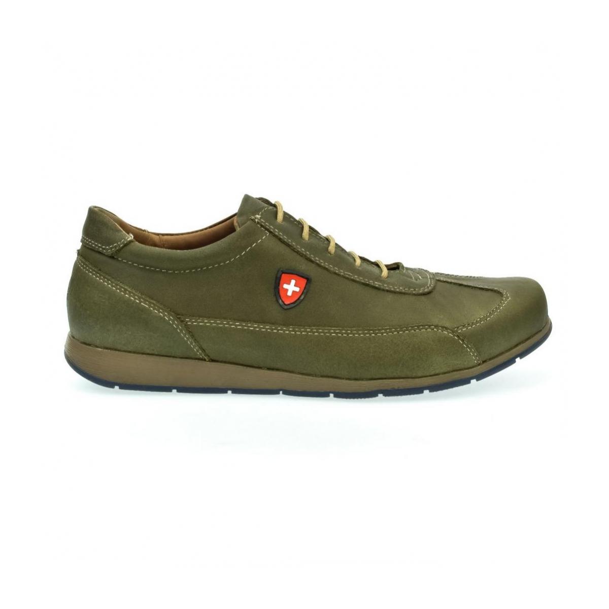 Pánske zelené kožené botasky TIGRAN - 4 8d8cd98f102