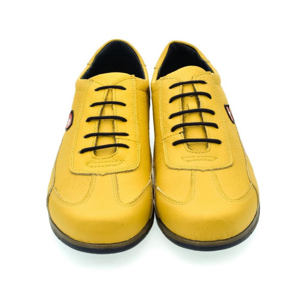 Pánske žlté kožené botasky TIGRAN - 2 8ed03d2f7e4