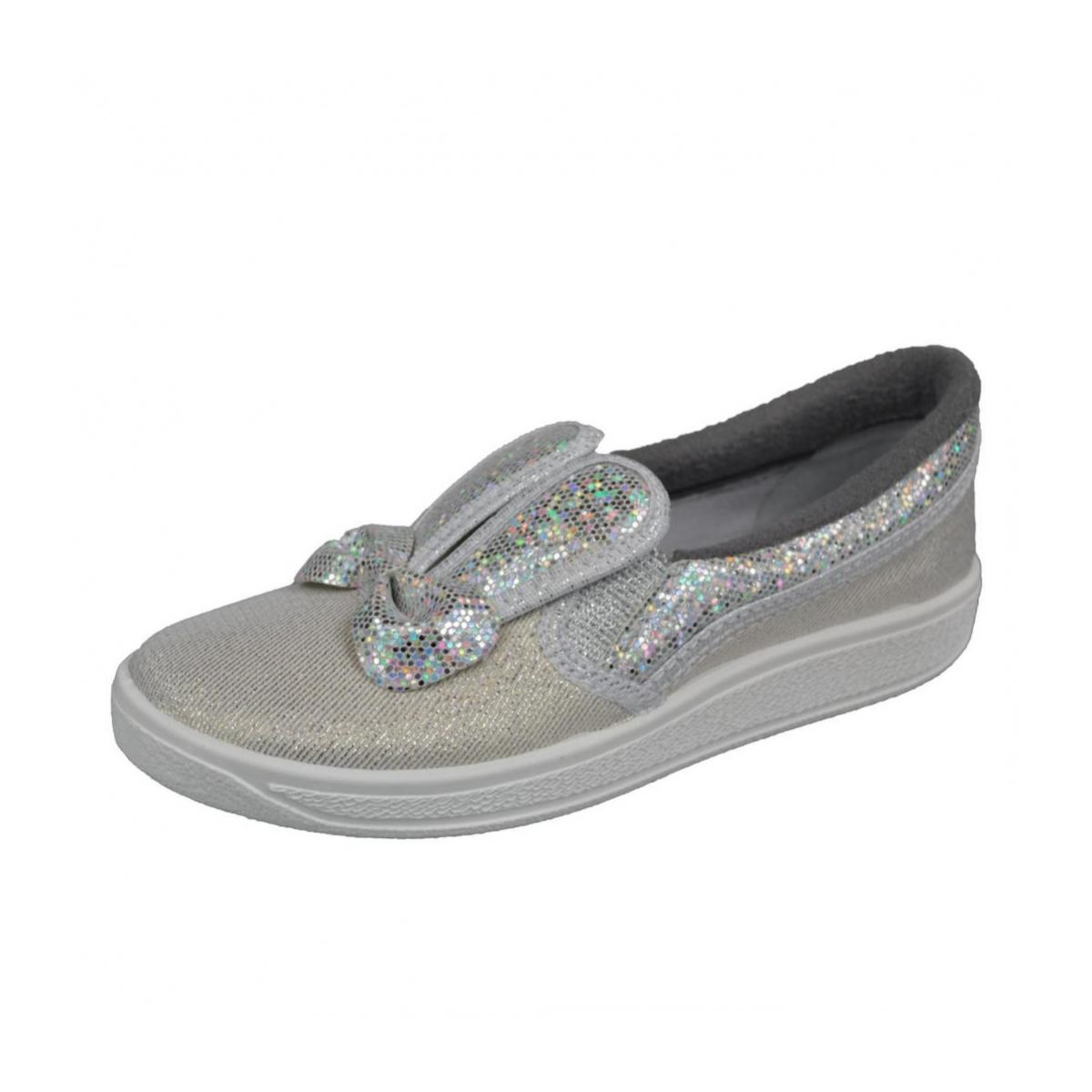 0567b391f5b0 Detské strieborné topánky BUNNY - 2