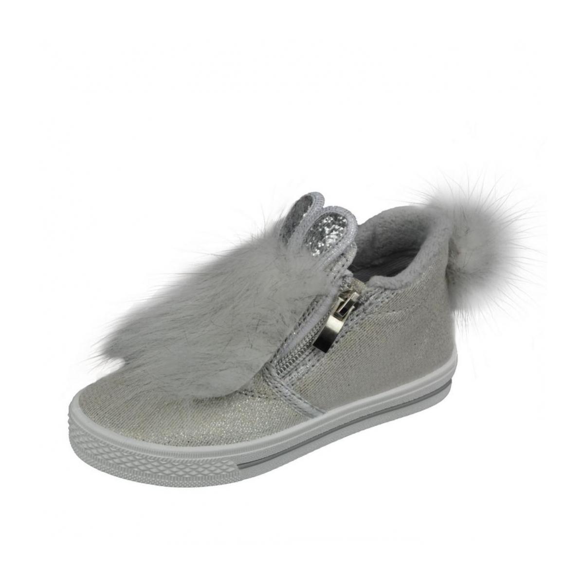 5fbc4b866b91 Detské strieborné topánky MILA - 2