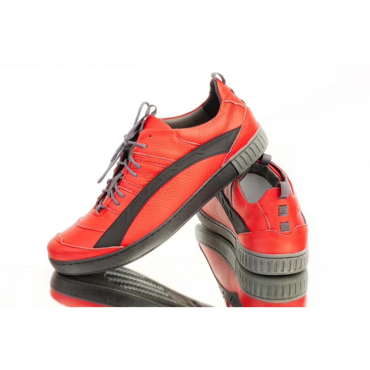 077caaab5c6a Pánske červené topánky ELIAS - 3
