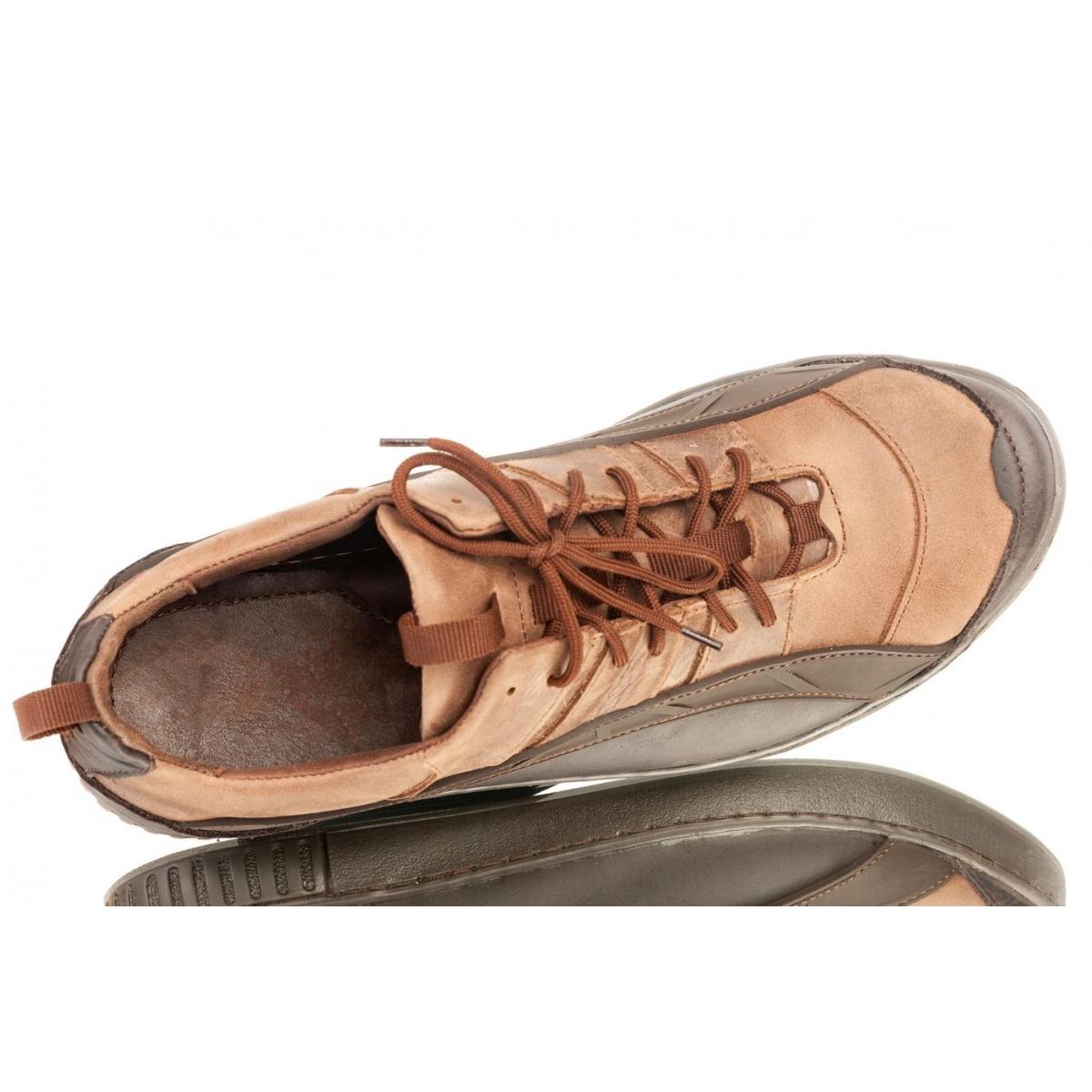 a3cba5cf2733 Pánske svetlohnedé topánky ELIAS - 4