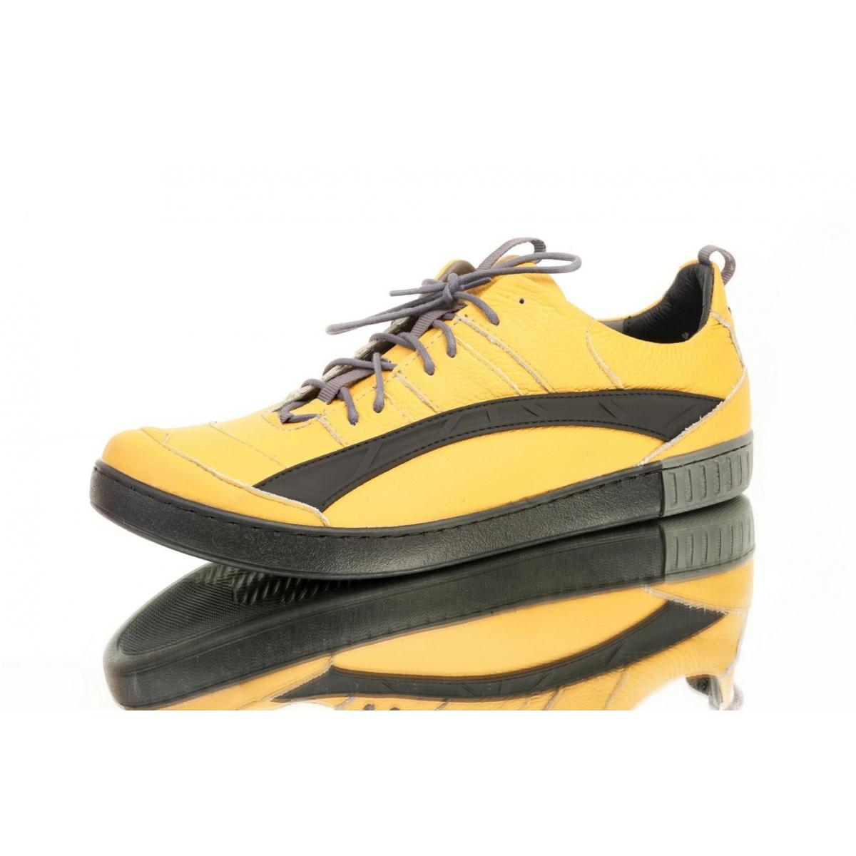 ef378fd31077 Pánske žlté topánky ELIAS - 2