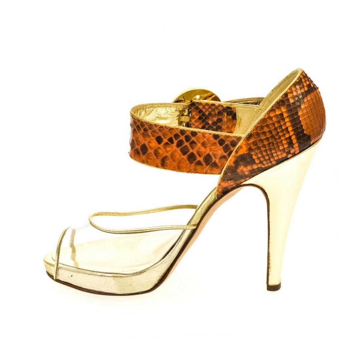 0c4fe25ef654 Dámske oranžové sandále HELY - 3