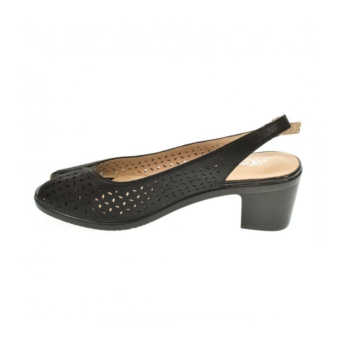 7de1ac8aff84 Dámske čierne sandále SONA - 5