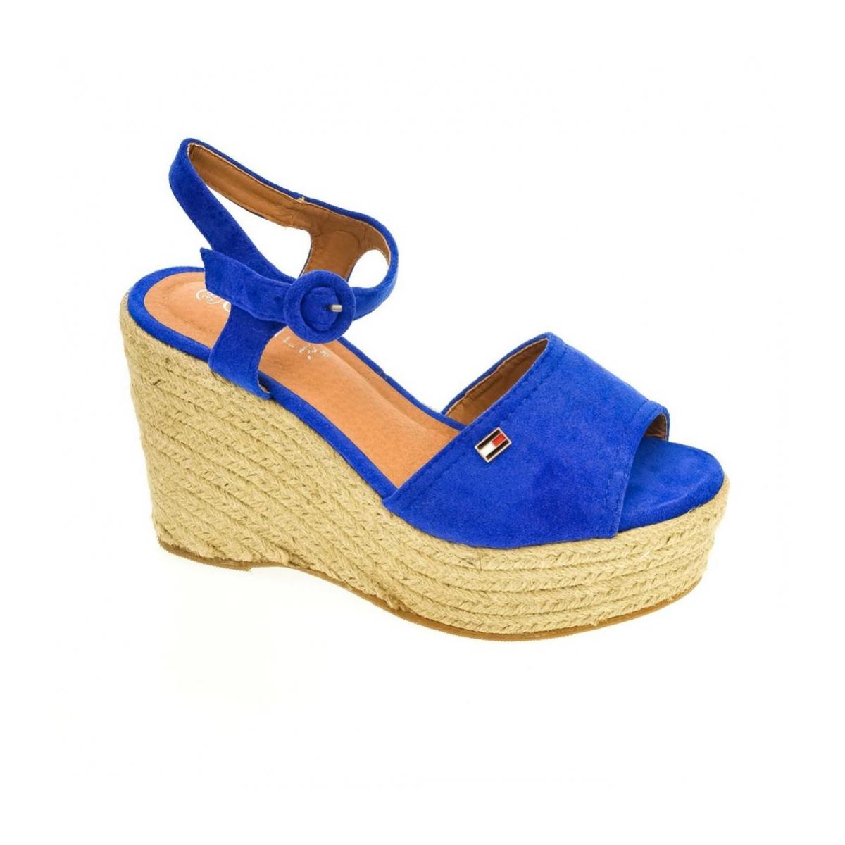 5fb8f79d4a97 Dámske modré sandále AFRA - 4