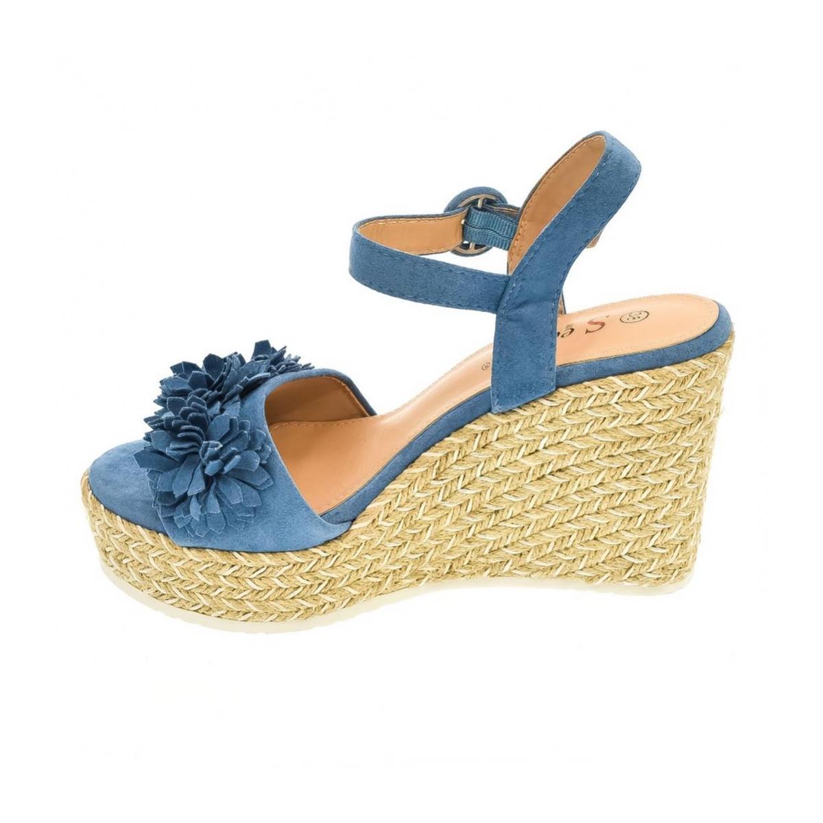 ab67ec9e3995 Dámske modré sandále VALERI - 6