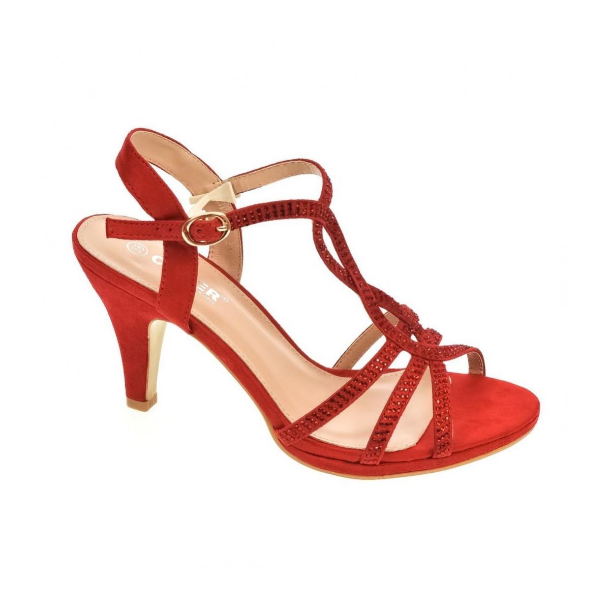 ccc77f23a37f1 Dámske červené sandále LINA   Johnc.sk