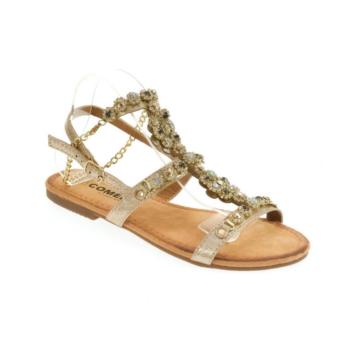 f24dca81af03 Dámske zlaté sandále INDI - 5
