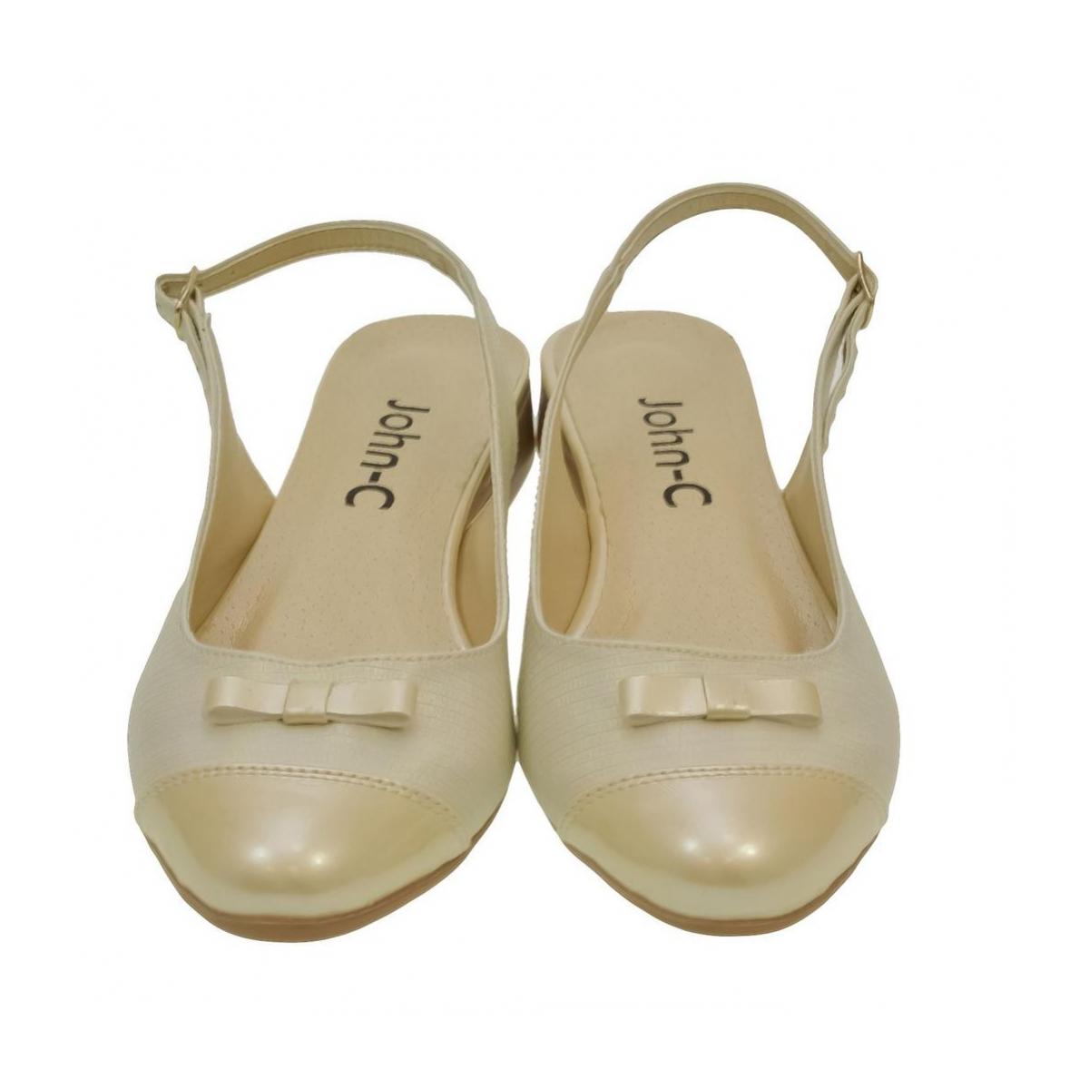 029330f01a12 Dámske zlato-béžové sandále EVELINE - 2