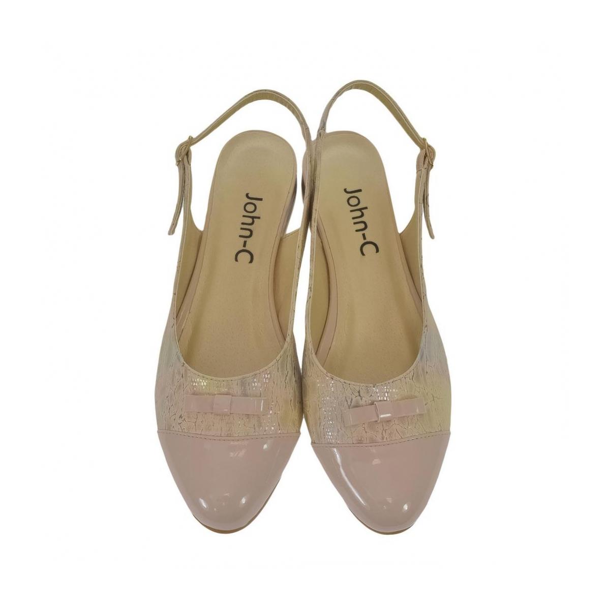 fb3ef6bb729a Dámske pudrovo-ružové sandále EVELINE - 4