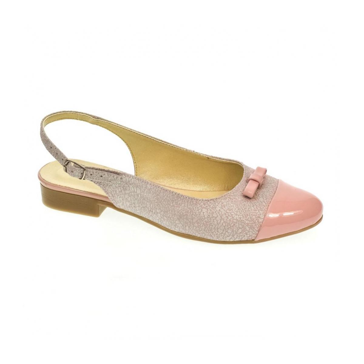 25b8a1536c58 Dámske ružovo-strieborné sandále EVELINE - 4