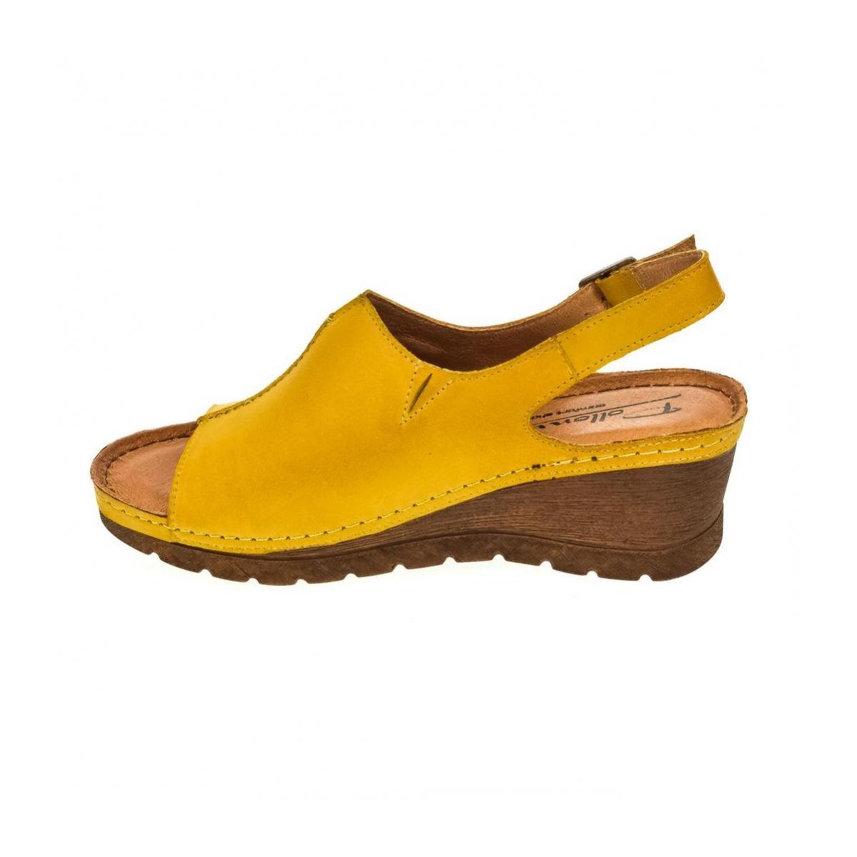 85cc91fa161b Dámske žlté sandále TIVA - 5