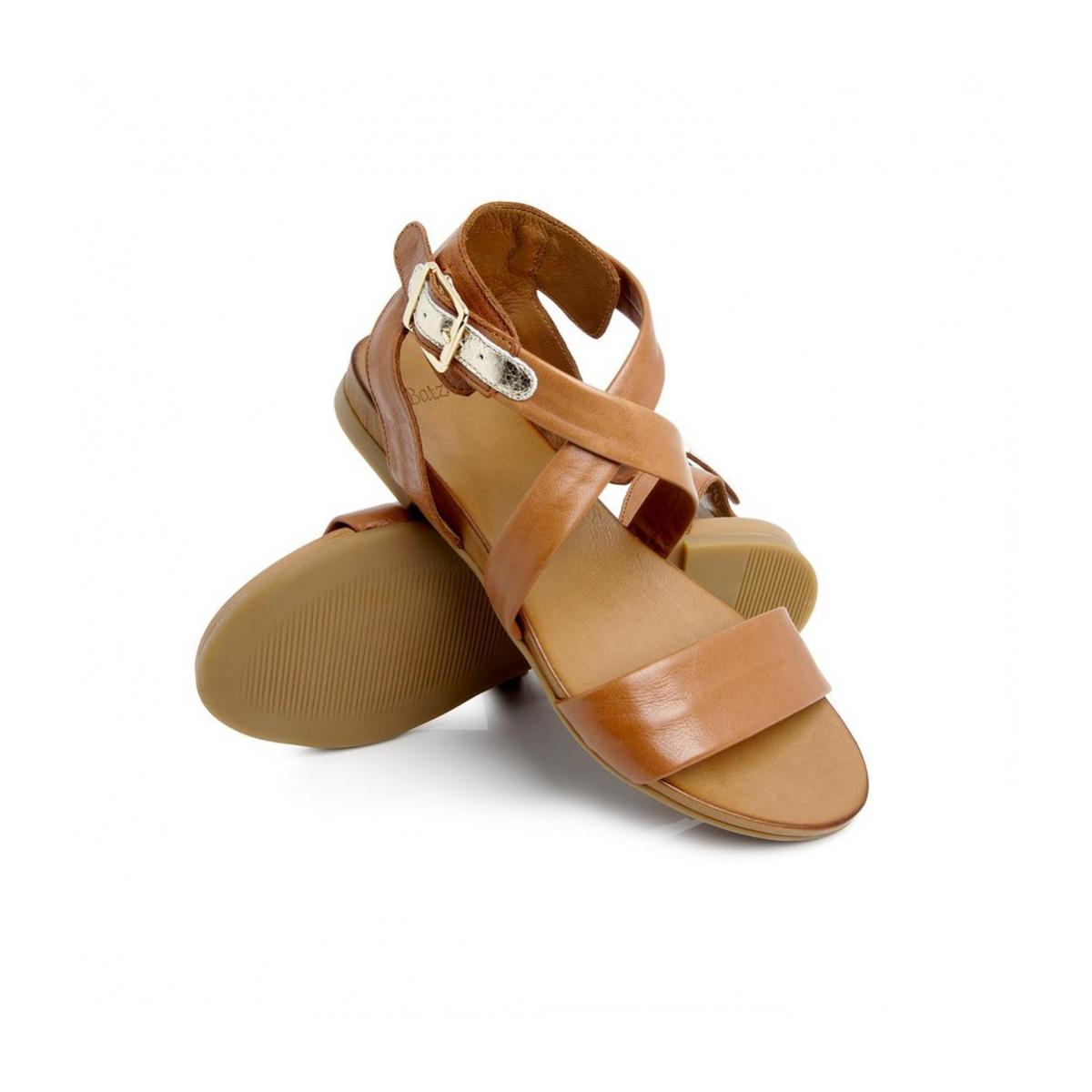 bfc9d1b050 Dámske kožené hnedé sandále FRESH 51 - 4