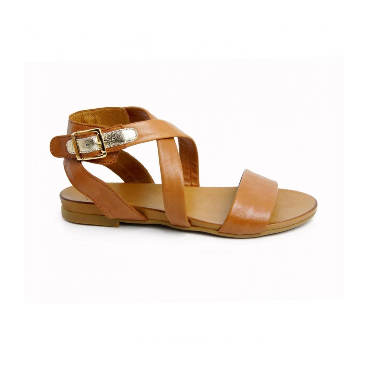 52f9e65d27 Dámske kožené hnedé sandále FRESH 51 - 2