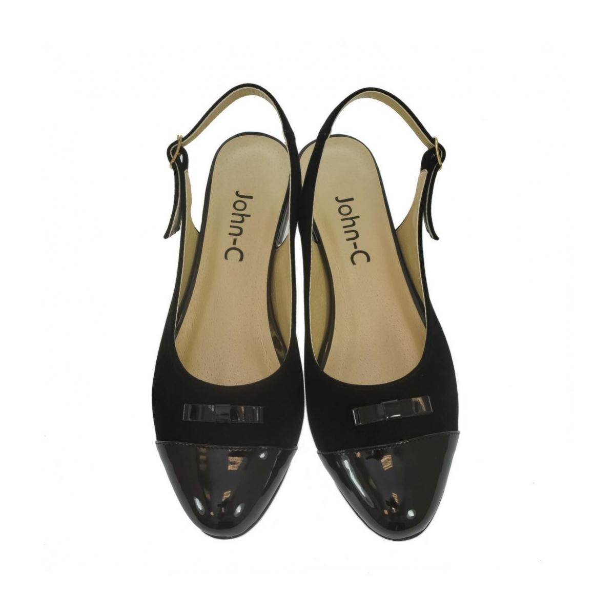 be05dc86094d Dámske čierne sandále EVELINE - 4
