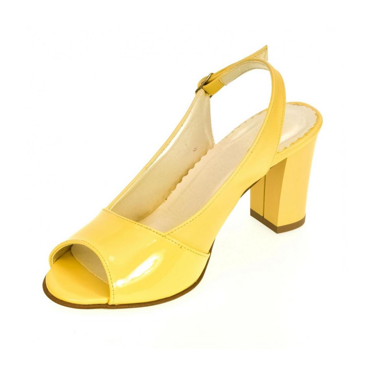 cd826ab00347 Dámske žlté sandále SAINA - 6