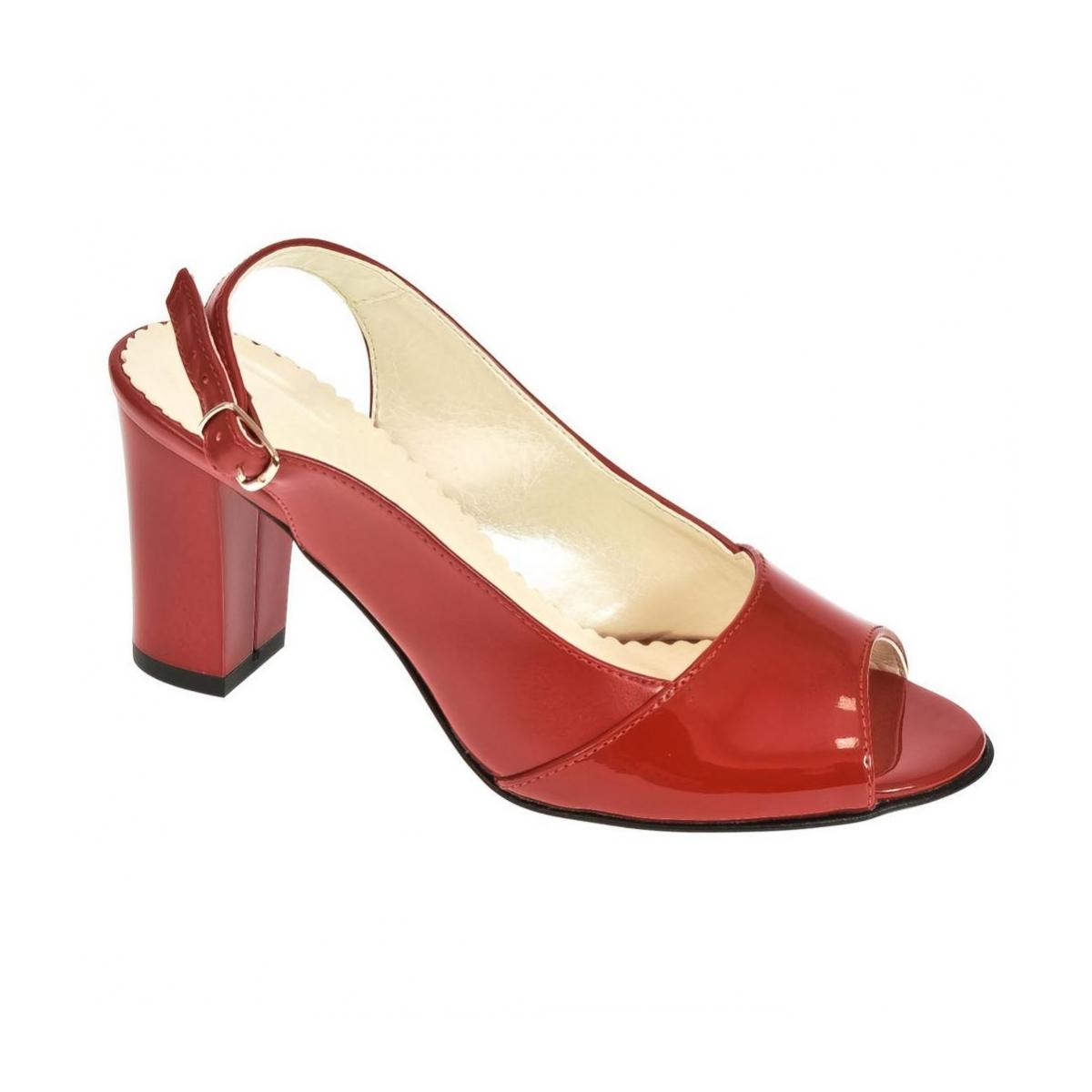6379ccc72958 Dámske červené sandále SAINA - 4